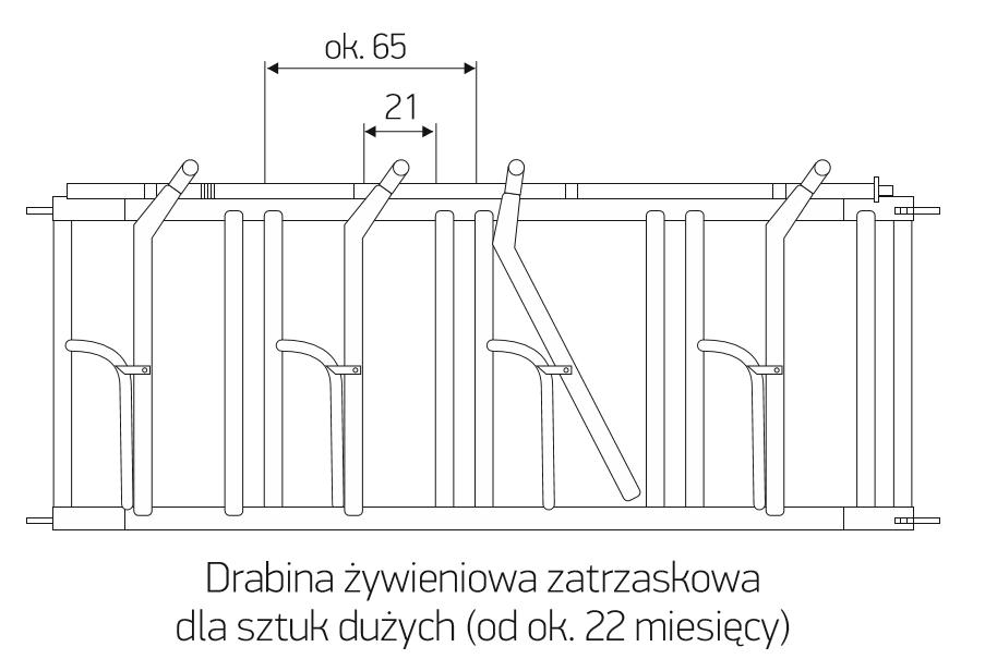 "1 ½"" x 1"", wysokość 90 cm; 2"" x 1 ¼"", wysokość 90 cm; 2"" x 1 ¼"", wysokość 105 cm"