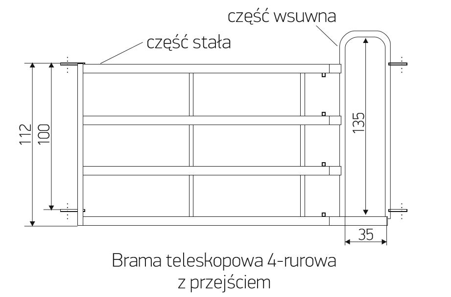 3_brama_teleskopowa_4_rurowa_z_przejsciem