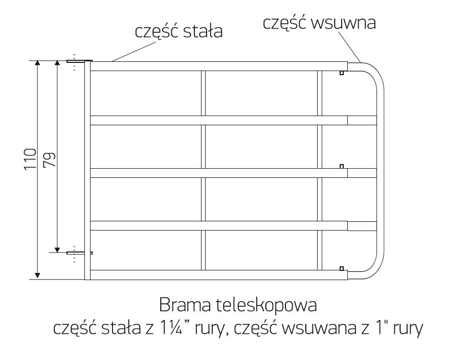 5_brama_teleskopowa_4_rurowa_rozsuwana